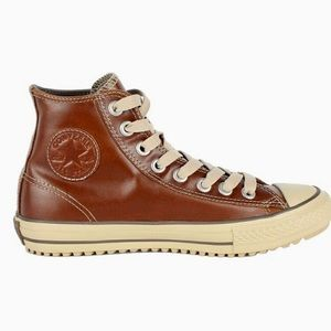 Men's size 11 brown leather converse high tops